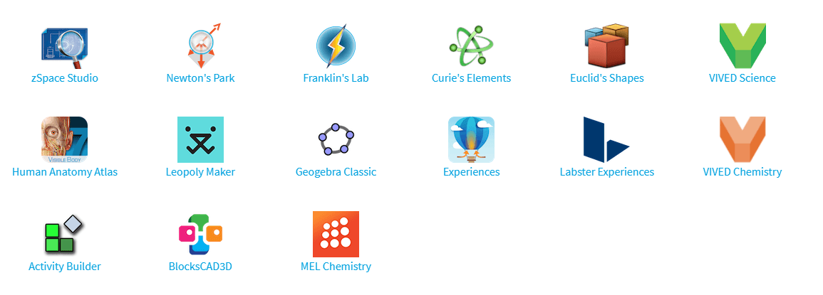 zSpace Learning Applications